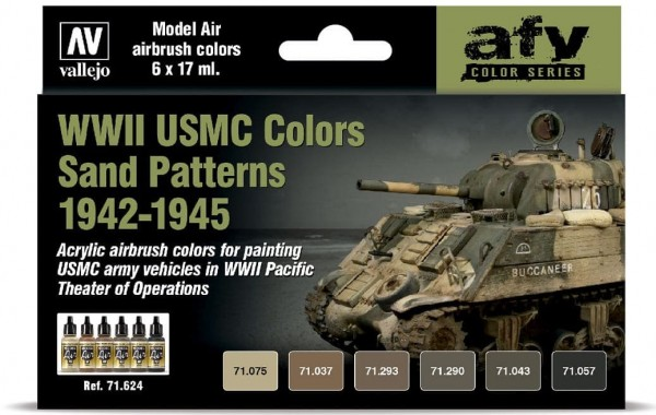 Model Air: WWII USMC Colors Sand Patterns 1942-1945