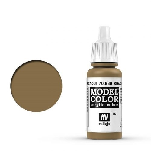 Vallejo Model Color: 113 Khaki Grau (Khaki Grey), 17 ml (880)