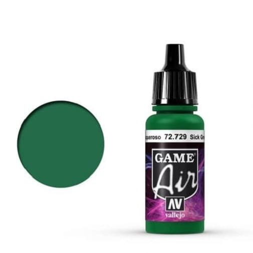 Vallejo Game Air 729 Sick Green, 17 ml