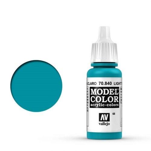 Vallejo Model Color: 068 Helles Türkisblau (Light Turquoise), 17 ml (840)