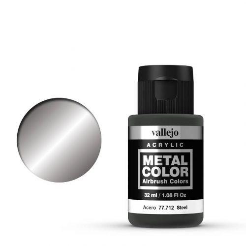 Vallejo Metal Color 712 Steel 32 ml.