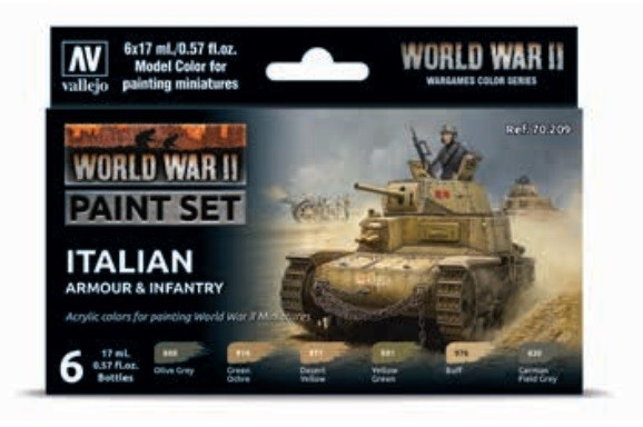 Vallejo Model Color: Model Color: WWII Italian Armour & Infantry