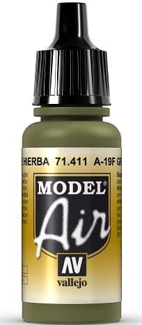 "Vallejo Model Air: 71411 ""A-19F Grass Green"" 17ml"